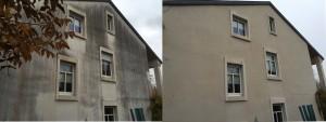 Fassadenreinigung vorher-nacher