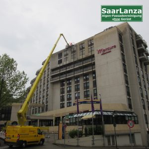 Hebebühne für Fassadenreinigung